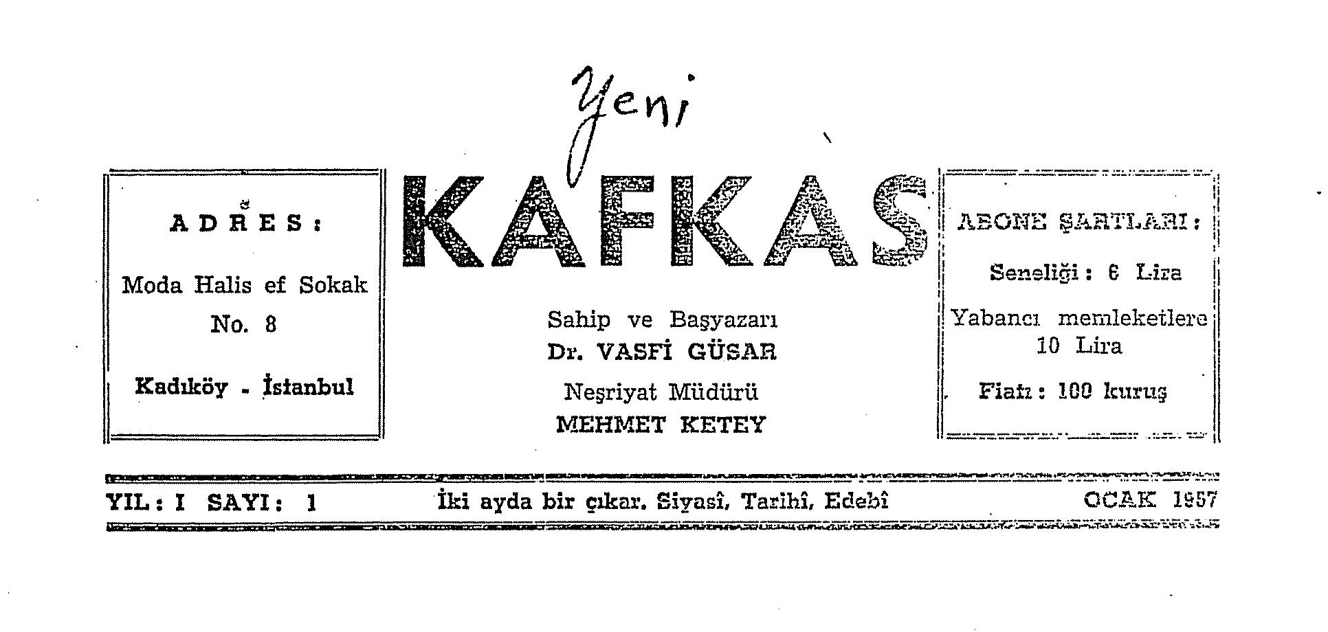 Yeni Kafkas Dergisi